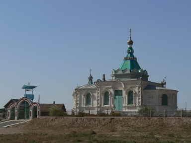Храм во имя Святого Благоверного великого князя Александра Невского в с. Разино Володарского района Астраханской области