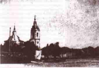 Михаило-Архангельская церковь (литография XIX века)